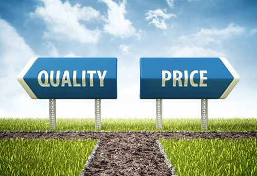 Expecting quality – selecting price…